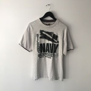 Vintage Navy Graphic Tee